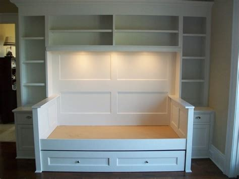 37291 built in bunk beds built in trundle bed traditional