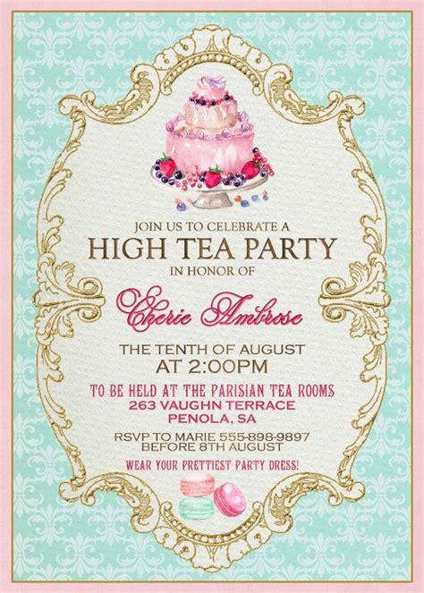 kitchen tea invites ideas high tea invitation template invitation templates j9tztmxz