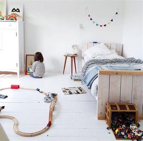 simple white kids room  play area