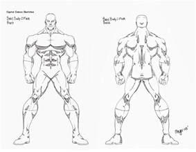Superhero Body Outline Sketch