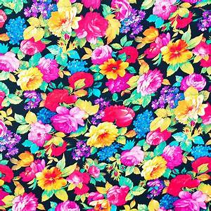 Neon Floral Girly Trendy Pink Teal Fashion Pattern