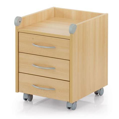 meuble caisson bureau meuble sur roulettes roll on 3 tiroirs bouleau achat