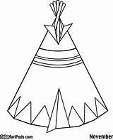 Teepee Tipi Coloring Pages Pee Tent Tee Kokopelli Printable Drawing Preschool Template Native American Indian Clipart Tipis Getdrawings Getcolorings Sketch sketch template