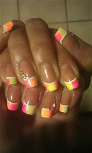 Neon French Nail Art Gallery