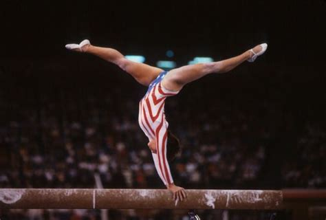 lou retton uneven bar routine 166 best images about gymnastics olympics 1984 on