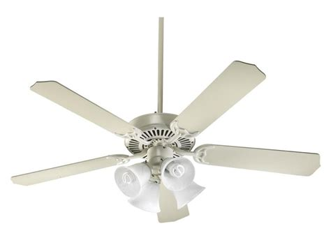 quorum four light antique white ceiling fan antique white