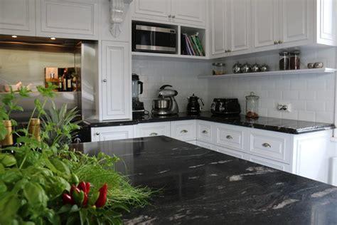 Black Granite Bench Tops by Cosmic Black Granite Honed Milestone Benchtops Pty Ltd