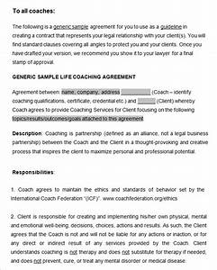 coaching contract template 7 free word pdf documents With coaching contracts templates