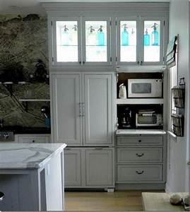 Microwave And Toaster Oven On Pull Out Shelves