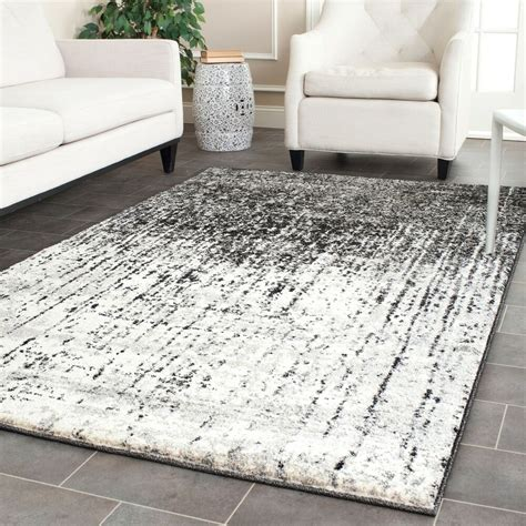 Safavieh Retro by Safavieh Retro Modern Abstract Black Light Grey Rug 8 9