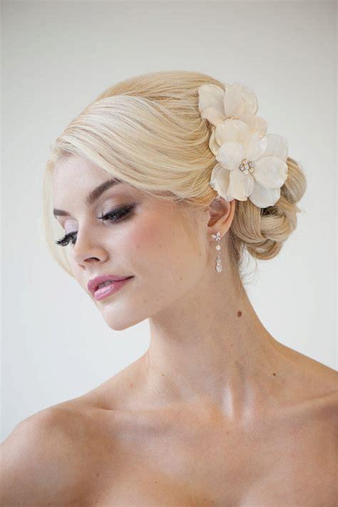 bridal flower hair clips wedding hair accessory