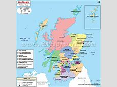 Counties in Scotland, UK Scotland Counties Maps