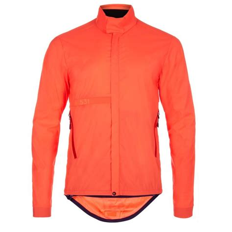 orange cycling jacket paul smith 531 orange wind and shower resistant packable