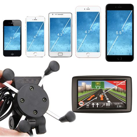 phone holder for motorcycle universal adjustable usb motorcycle bike mount holder for