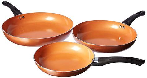 copper aluminum frying pans  pc nonstick fry pan set     plastic handles