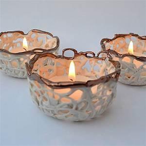 Copper, And, Porcelain, Tea, Light, Holder, By, Carys, Boyle, Ceramics