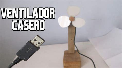 como hacer un ventilador casero con cable usb│homemade fan ...