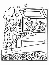Restaurant Oven Kleurplaat Knutselen Pizzabakker Coloring Template Kleurplaten Mewarna07 sketch template