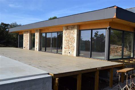 maison ossature bois toit plat prix cuisine cr 195 169 ateur et fabricant de maison moderne 195 ossature bois 195 prix construction maison