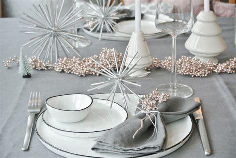 Tischdeko Weihnachten Weiß Silber by Zweimal Tischdeko Weihnachten Diy Living Elements