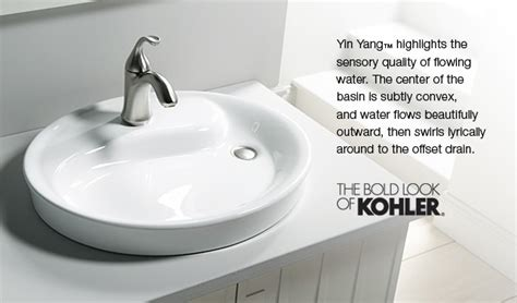 kohler yin  bathroom sink