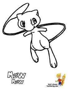 Pokemon Mew Coloring Pages Printable