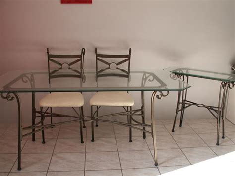 table verre fer forge conforama
