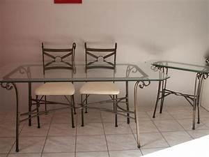 Table Verre Et Fer Forgé : table verre fer forge conforama ~ Teatrodelosmanantiales.com Idées de Décoration