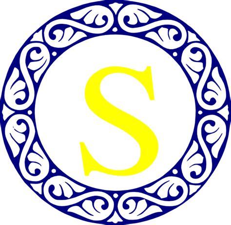 scroll circle  monogram clip art  clkercom vector clip art  royalty  public