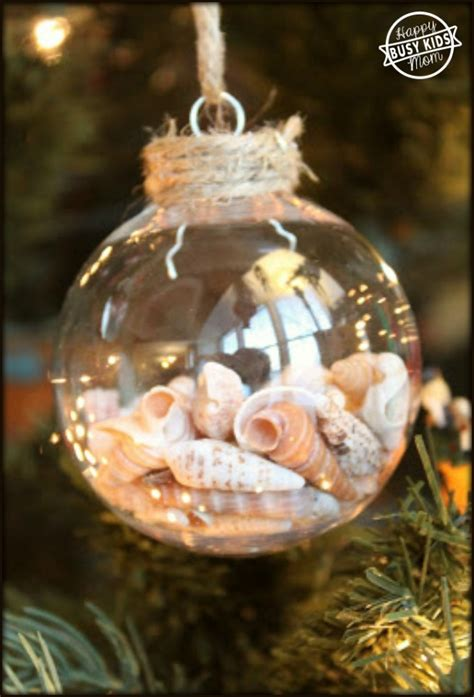 best places to get christmas ornaments how to make your own seashells ornaments busy happy