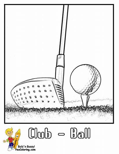 Golf Coloring Pages Ball Printables Club Course