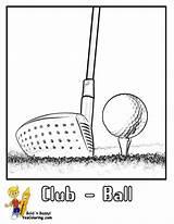 Golf Coloring Ball Printables Course Clubs Atv Sport Golfers Yescoloring Gallant Courses Boys Wheeler Driver sketch template