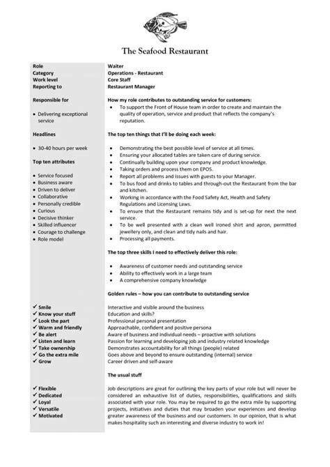 Waitress Description Resume by Waitress Description Resume Resume Badak