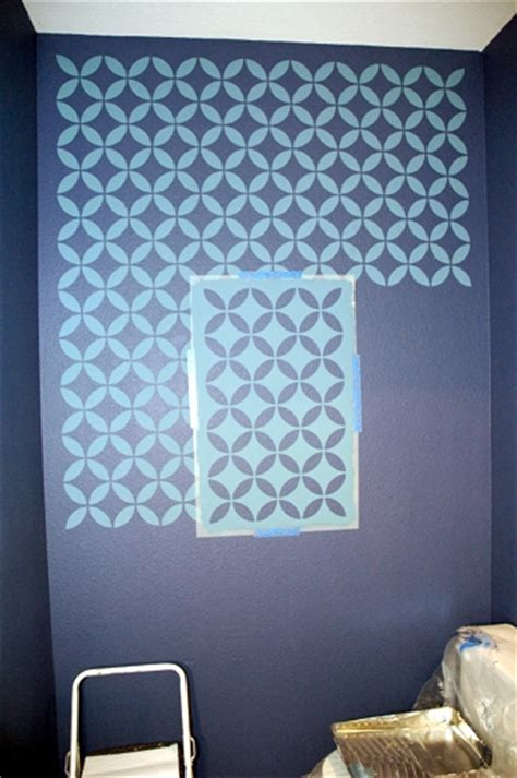 stencil designs for walls how to stencil on a textured wall makely