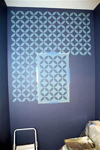 paint templates for walls - how to stencil on a textured wall makely