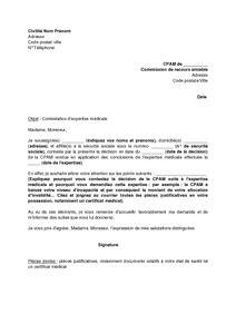 modèle lettre saisine comité médical exemple gratuit de lettre contestation expertise m 233 dicale