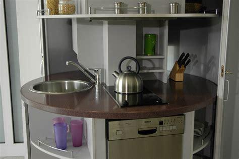 revolving circle compact kitchen idesignarch interior