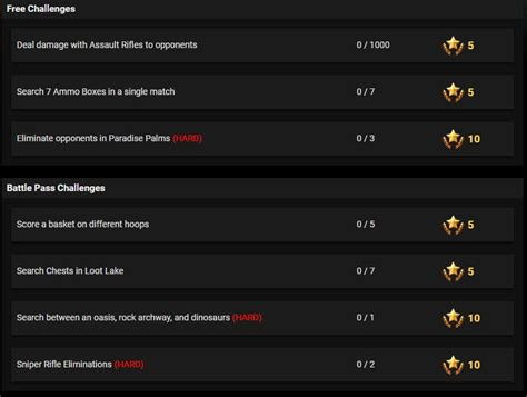 fortnite week 5 challenges fortnite season 5 week 2 leaked challenges fortnite insider