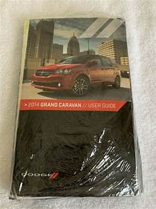 2014 Dodge Grand Caravan Owners Manual New Oem Mopar Book