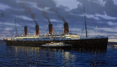 Boat Paint Belfast by Painting Of Ss Titanic With Nomadic Alongside In