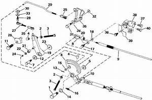 Evinrude Shift  U0026 Throttle Linkage Parts For 1991 40hp