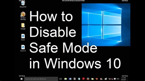 disable safe mode  startup  windows