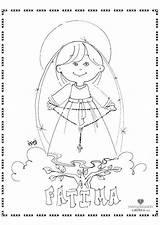 Coloring Lady Fatima Catholic Rosario October Rosary Crafts Actividades Continentes Marianas Advocaciones Misionero Saints Roman Virgen Colorear Perfect Religion Visitar sketch template