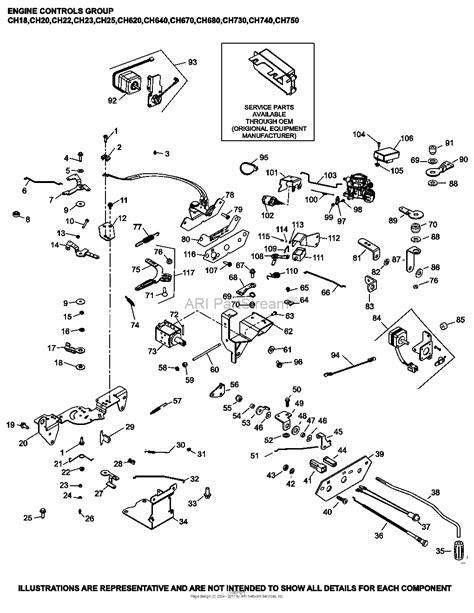 Ch 20 Kohler Command Wiring Diagram by Kohler Ch620 3132 Walker 19 Hp 14 2kw Parts Diagram For