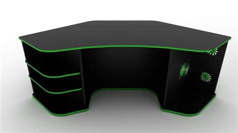 gaming corner desk space management and easy access the motto gaming