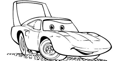 mewarnai mobil balap mcqueen filem cars murid