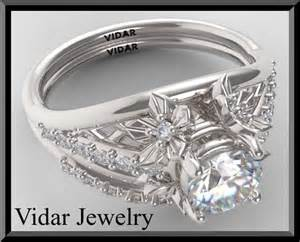 white sapphire wedding ring sets white sapphire wedding ring set vidar jewelry unique custom engagement and wedding rings