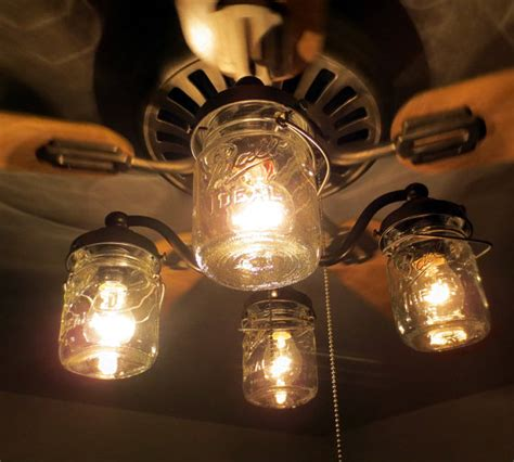 ceiling fan with jar lights mason jar ceiling fan light kit only with vintage by lgoods
