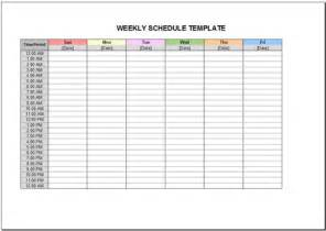 Weekly Schedule Template Excel Free Weekly Schedule Template For Excel 2007 2016