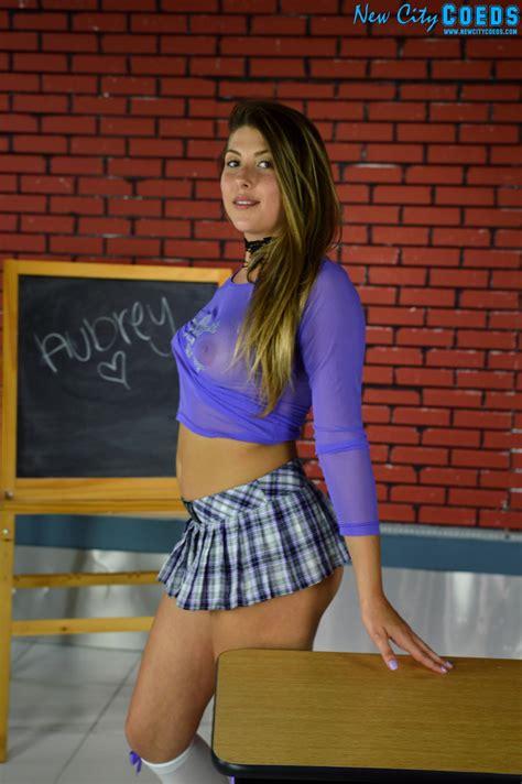 Aubrey Coed Model Bad School Girl Gallery New City